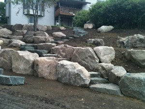 Fieldstone with Dresser Trap Stairs